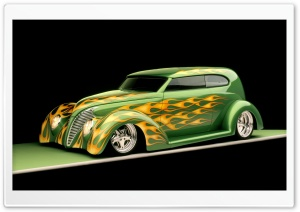 1939 Ford Sedan Hot Rod HD Wide Wallpaper for Widescreen