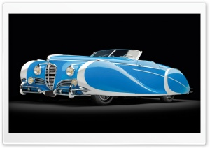 1949 Delahaye 175 S Saoutchik Roadster HD Wide Wallpaper for 4K UHD Widescreen desktop & smartphone