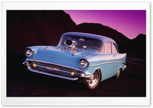 1957 Chevy Bel Air Coupe HD Wide Wallpaper for Widescreen