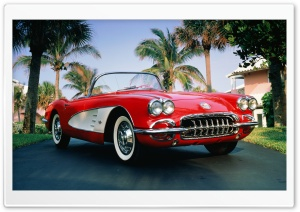 1960 Chevrolet Corvette Convertible HD Wide Wallpaper for 4K UHD Widescreen desktop & smartphone