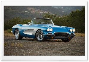 1961 Corvette Convertible HD Wide Wallpaper for Widescreen