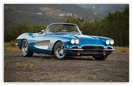 1961 Corvette Convertible 4K HD Desktop Wallpaper for 4K ...