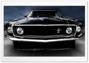 1969 Ford Mustang HD Wide Wallpaper for Widescreen