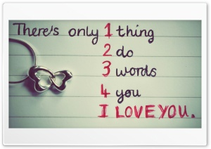 1 Thing 2 Do 3 Words 4 U HD Wide Wallpaper for Widescreen