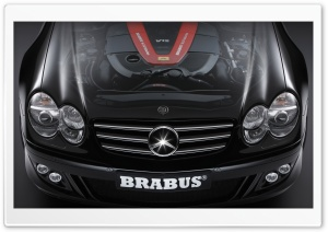 2006 BRABUS SV12 S Biturbo Roadster Mercedes Benz SL Class Hood Cutaway View HD Wide Wallpaper for Widescreen