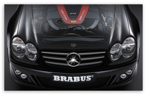 2006 BRABUS SV12 S Biturbo Roadster Mercedes Benz SL Class Hood Cutaway View HD wallpaper for Wide 16:10 Widescreen WHXGA WQXGA WUXGA WXGA ; Standard 4:3 Fullscreen UXGA XGA SVGA ; iPad 1/2/Mini ; Mobile 4:3 - UXGA XGA SVGA ;