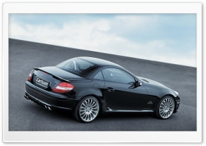 2006 Carlsson CK35 Based On Mercedes Benz SLK 350 Rear Angle Top Up HD Wide Wallpaper for Widescreen