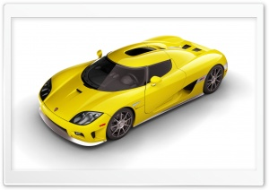 2006 Koenigsegg CCX Yellow Top HD Wide Wallpaper for Widescreen