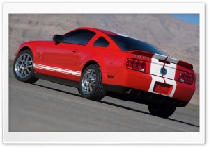 2007 Ford Shelby GT500 Production Red HD Wide Wallpaper for Widescreen