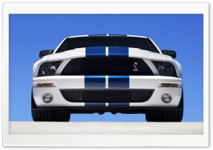 2007 Ford Shelby GT500 Production White HD Wide Wallpaper for 4K UHD Widescreen desktop & smartphone