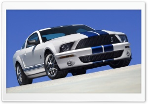 2007 Ford Shelby GT500 Production White 1 Ultra HD Wallpaper for 4K UHD Widescreen desktop, tablet & smartphone