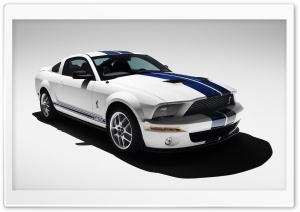 2007 Ford Shelby GT500 Production White 2 HD Wide Wallpaper for 4K UHD Widescreen desktop & smartphone