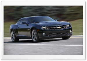 2010 Black Chevrolet Camaro Ultra HD Wallpaper for 4K UHD Widescreen desktop, tablet & smartphone
