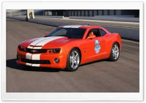 2010 Chevrolet Camaro Indianapolis 500 Pace Car   Front Angle View HD Wide Wallpaper for Widescreen
