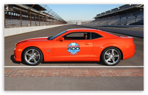2010 Chevrolet Camaro Indianapolis 500 Pace Car   Side View HD wallpaper for Wide 16:10 5:3 Widescreen WHXGA WQXGA WUXGA WXGA WGA ; HD 16:9 High Definition WQHD QWXGA 1080p 900p 720p QHD nHD ; Standard 3:2 Fullscreen DVGA HVGA HQVGA devices ( Apple PowerBook G4 iPhone 4 3G 3GS iPod Touch ) ; Mobile 5:3 3:2 16:9 - WGA DVGA HVGA HQVGA devices ( Apple PowerBook G4 iPhone 4 3G 3GS iPod Touch ) WQHD QWXGA 1080p 900p 720p QHD nHD ; Dual 5:4 QSXGA SXGA ;