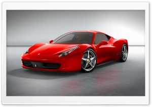 2010 Ferrari 458 Italia   Front Angle View HD Wide Wallpaper for Widescreen
