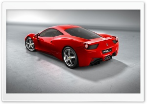 2010 Ferrari 458 Italia   Rear Angle View HD Wide Wallpaper for Widescreen