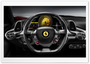 2010 Ferrari 458 Italia   Steering Wheel HD Wide Wallpaper for Widescreen