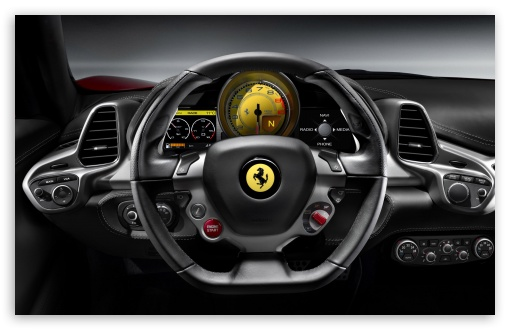 2010 Ferrari 458 Italia   Steering Wheel HD wallpaper for Wide 16:10 5:3 Widescreen WHXGA WQXGA WUXGA WXGA WGA ; HD 16:9 High Definition WQHD QWXGA 1080p 900p 720p QHD nHD ; Standard 4:3 5:4 3:2 Fullscreen UXGA XGA SVGA QSXGA SXGA DVGA HVGA HQVGA devices ( Apple PowerBook G4 iPhone 4 3G 3GS iPod Touch ) ; iPad 1/2/Mini ; Mobile 4:3 5:3 3:2 16:9 5:4 - UXGA XGA SVGA WGA DVGA HVGA HQVGA devices ( Apple PowerBook G4 iPhone 4 3G 3GS iPod Touch ) WQHD QWXGA 1080p 900p 720p QHD nHD QSXGA SXGA ;