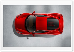 2010 Ferrari 458 Italia   Top View HD Wide Wallpaper for Widescreen