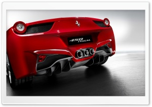 2010 Ferrari 458 Italia Rear HD Wide Wallpaper for Widescreen