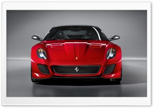 2010 Ferrari 599 GTO Front View HD Wide Wallpaper for 4K UHD Widescreen desktop & smartphone