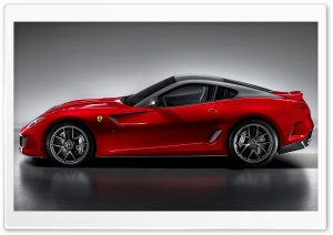 2010 Ferrari 599 GTO Side View HD Wide Wallpaper for Widescreen