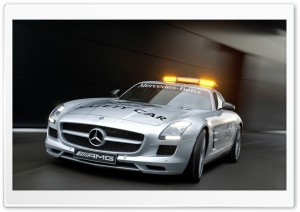2010 Mercedes-Benz SLS AMG F1 Safety Car HD Wide Wallpaper for 4K UHD Widescreen desktop & smartphone