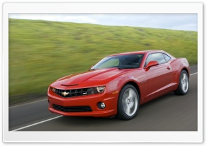 2010 Red Chevy Camaro SS HD Wide Wallpaper for Widescreen