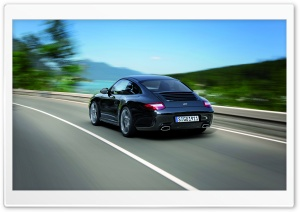 2011 Black Porsche 911 Black Edition Rear HD Wide Wallpaper for Widescreen
