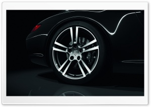 2011 Black Porsche 911 Black Edition Wheel HD Wide Wallpaper for Widescreen