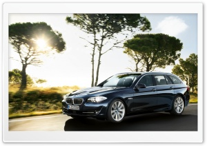 2011 BMW 5 Series Touring F11   Front Angle HD Wide Wallpaper for Widescreen