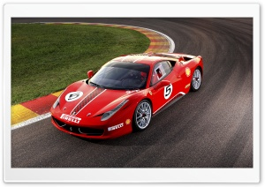 2011 Ferrari 458 Challenge HD Wide Wallpaper for Widescreen