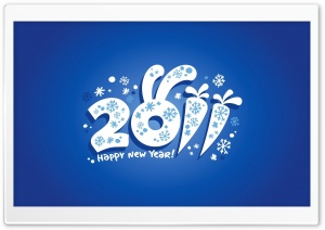 2011 Happy New Year HD Wide Wallpaper for Widescreen