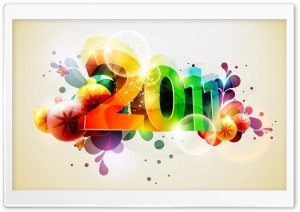 2011 New Year HD Wide Wallpaper for Widescreen