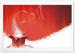 2011 New Year Gift HD Wide Wallpaper for Widescreen