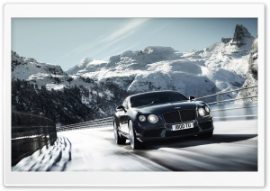 2012 Bentley Continental V8 - Winter Mountain HD Wide Wallpaper for 4K UHD Widescreen desktop & smartphone