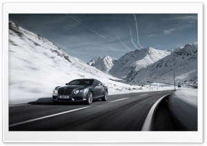 2012 Bentley Continental V8 Winter HD Wide Wallpaper for Widescreen