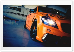 2012 CLS550 Wald Black Bison Wrapped In Satin Orange HD Wide Wallpaper for Widescreen