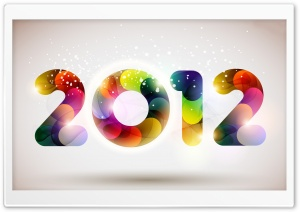 2012 Happy New Year Ultra HD Wallpaper for 4K UHD Widescreen desktop, tablet & smartphone