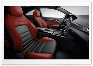 2012 Mercedes Benz C63 AMG Car Interior HD Wide Wallpaper for Widescreen