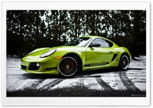 2012 Porsche Cayman R in the snow HD Wide Wallpaper for Widescreen