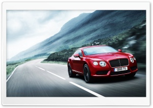 2012 Red Bentley Continental HD Wide Wallpaper for Widescreen
