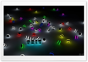 2013 Glowing Balls HD Wide Wallpaper for Widescreen