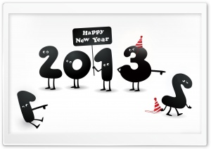 2013 Happy New Year 1 HD Wide Wallpaper for Widescreen