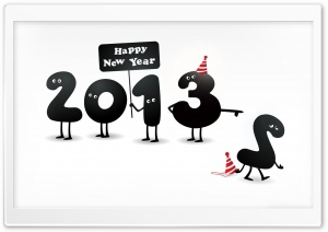 2013 Happy New Year HD Wide Wallpaper for Widescreen