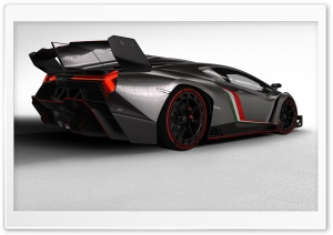 2013 Lamborghini Veneno Rear HD Wide Wallpaper for Widescreen