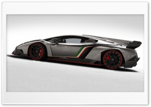 2013 Lamborghini Veneno Side View HD Wide Wallpaper for Widescreen