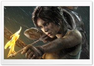 2013 Lara Croft Tomb Raider HD Wide Wallpaper for Widescreen