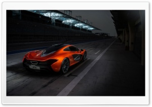 2013 Mclaren P1 Race Track HD Wide Wallpaper for Widescreen